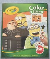Crayola Disney Despicable Me 3 Minions Color & Sticker 32 page Book 50+ stickers