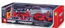 Ferrari RACE & PLAY Geschenk-Set Import    4 Cars + Zubehör *** Bburago 1:43 OVP
