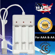 3 Slots Battery Charger Smart Charging For AA & AAA Rechargeable batteries USB