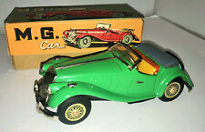 "Vintage 1955 KO Japan 8.5"" Tin Friction Green MG Midget 2 Door Convertible w/Box"