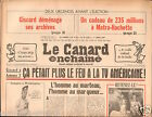 CANARD ENCHAINÉ Birthday Newspaper JOURNAL NAISSANCE 1 AVRIL APRIL 1981