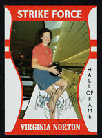 Virginia Norton #58 signed autograph auto LPBA Strike Force Bowling Trading Card