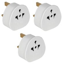 3 x European USA / AUS 2 Pin to UK Plug Adaptor Euro EU Schuko Adapter Travel