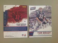 TOM BRADY #3 Patriots QB MVP 2015/16 2016 Panini Fathers Day Redemption