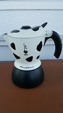 Bialetti Mukka Express 2-Cup Cow-Print Cappuccino Maker Black and White