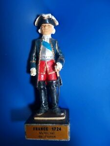 """Soldier Vintage Lead French Officer 1724. 4"""" high.Mint.High quality."""