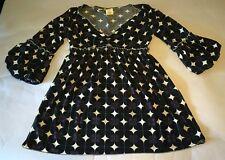 Max Studio Womens XS (Extra Small) Purple Geometric Pop Art Dress Bell Sleeve