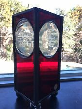 Handmade Red Clear Stained Glass Happiness Table Lamp Sconce