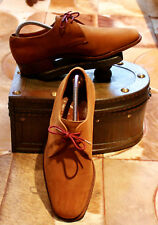 Vintage Trickers tan suede mens lace up shoes size 7