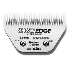 """Andis ShowEdge Live Stock Medium Coarse Wide Blade - Leaves 3.9mm 5/32"""""""