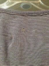 EUC Lululemon S/S V-neck Navy & White Pima Cotton Shirt Size 8
