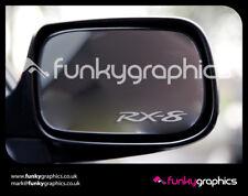 Mazda RX8 RX-8 logo mirror decals stickers graphics decals x 3 en argent etch