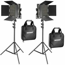 Neewer 2 Pieces Bi-color 660 LED Video Light and Stand Kit CRI 96+ Dimmable U