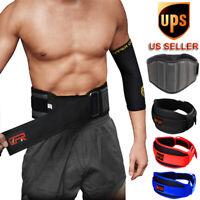 US Waist Support Belt Heavy Weight Lifting Lumbar Work Lower Back Brace Strap