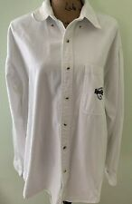 Authentic Hard Rock Cafe Unisex Chef's White Jacket Coat Uniform Button Up Sz L