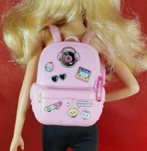Barbie Holiday Pink Logo Backpack Fashionistas Mattel Bag Doll Accessory