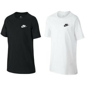 Nike Childrens T Shirt Futura Logo Basic Sports Junior Swoosh Casual Tee