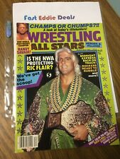 WRESTLING ALL STARS MAGAZINE DECEMBER 1988 NATURE BOY RIC FLAIR ON COVER PINUPS