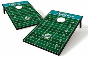 Wild Sports NFL Miami Dolphins 2' x 3' Field Tailgate Toss with 8 Bean Bags