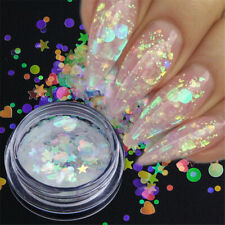 3D Glitter Women Manicure Decor Star Round Heart Flakes Mermaid Shiny