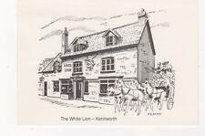 The White Lion Kenilworth Postcard National Postal Museum 1985 Postmark 485b