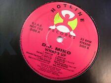 """ITALO DISCO - DJ MIKO - WHAT'S UP - 12"""" VINYL EXCELLENT 1993"""