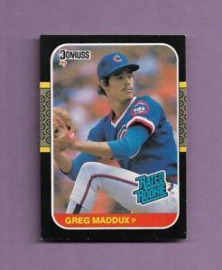 GREG MADDUX 1987 DONRUSS ROOKIE BASEBALL CARD #36 - CHICAGO CUBS HOF