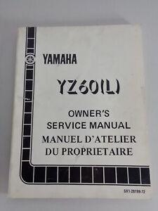 Taller Manual / Manual D'Entretien Yamaha YZ 60 L Moto de Cross Desde 07/1983