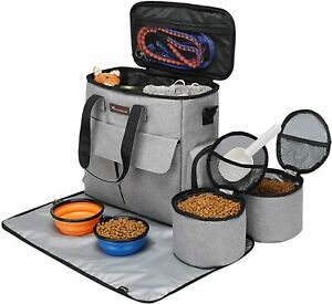 Dog Travel Bag Weekend Pet Travel Set for Dog and Cat Airline Approved Organizer