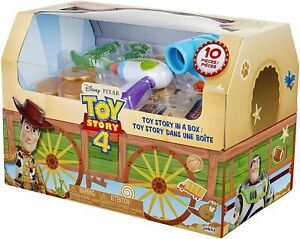 Disney Pixar Toy Story 4 in A Box! 10 Piece Andy's Toy Chest Trunk NEW/SEALED