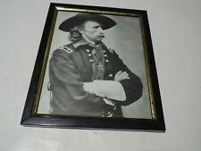 More details for framed photo of general custer, american civil war, printed copy