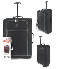 Cabin Approved Carry on Wheeled Hand Luggage Flight Holdall Suitcase Bag Uk