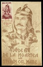 1954 Prince Stefan cel Mare,Army,Arms,Stephan the Great,Romania,Mi.1477,max icard