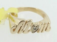 10k Yellow Gold Diamond Heart Ring for MOM Size 4.25 $450 Retail