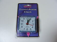 SMALL LITTLE QUARTZ TRAVEL ALARM CLOCK - BATTERY OPERATED AA BATTERY REQUIRED