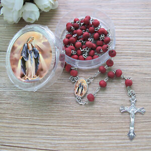 12 PCS Our Lady of Grace Miraculous Rose Scented Rosary Religious Gift Favors