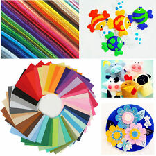 40 Pieces Rainbow Colorful Felt Sheets DIY Craft Polyester Wool Blend Fabric