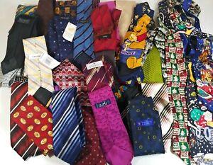 Bundle Lot of 50 Ties Designer Necktie Fashion Fun Dress Hermes Lanvin Hugo Boss