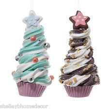 Ice Cream Tree Christmas Candy Ornaments Set 2 ka j8353 NEW Shelley B