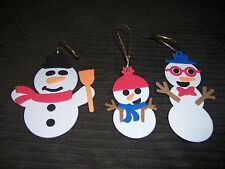 Snowman Family Foam Christmas Tree Ornaments FREE SHIPPING