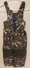 Baby Toddler Rugged Bear Ski pants Snow Overalls Sz 3T Camo gray insulated