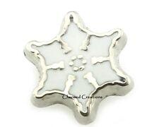 10pc Lot Silver Snowflake Christmas Floating Charm For Glass Memory Locket