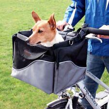 Padded Bicycle Basket Bike Pet Front Handlebars Small safe Dog Transport Cushion