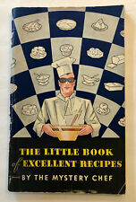 Mystery Chef 1934 Little Book of Excellent Recipes Davis Baking Powder Cookbook