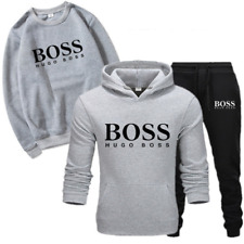 3Pcs Mens Hoodie Casual Full Tracksuits Set Sweatshirts Bottoms Jogging Suit UK