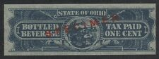 OHIO State Revenue Beer Tax Stamp SRS OH B11S