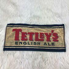 "New Tetley's English Ale Bar Towel Blue Yellow Red Pub Beer Man Cave 9"" x 19"""