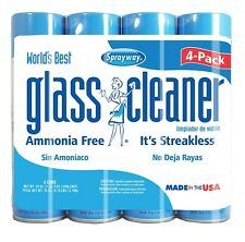 4 Sprayway Glass Cleaner 19oz Cans Ammonia Free Mirrors Windows LCD Comp Screen