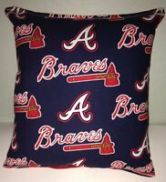Braves Pillow Atlanta Braves Pillow MLB Handmade in USA Pillow