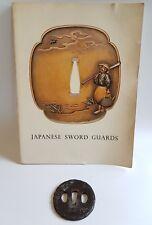 Antique Iron Tsuba Edo Era Japanese Sword Guard Samurai Katana Original Rare 01